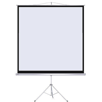 "Instahibit™ 100"" 1:1 70"" x 70"" Manual Tripod Stand Projector Projection Screen"