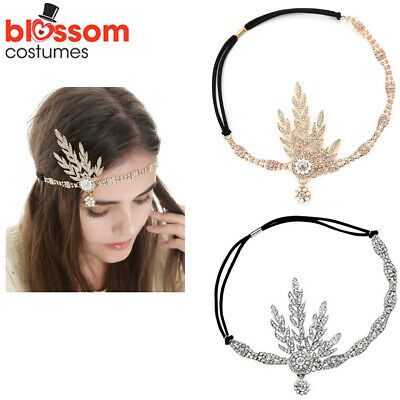 K310 1920s 20s Great Gatsby Headband Vintage Bridal Flapper Costume Accessory