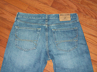 Mens Hollister The Hollister Slim Straight Button Fly Jeans Size 31X32