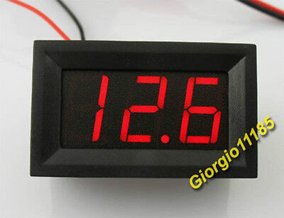 US Stock Mini Red LED Digital Panel AMP Meter Gauge 20A DC & Shunt