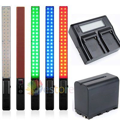 YONGNUO YN360 LED Light ICE Stick RGB Colorful Control + 2Pcs Battery + Charger