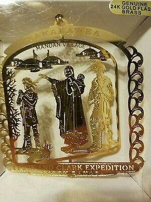 Lewis & Clark Sakakawea Expedition North Dakota Brass Christmas Ornament