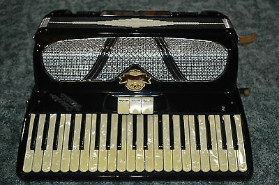 Vintage Zenith Piano Accordion 3 Switch 120 Bass Professional Accordian Italy