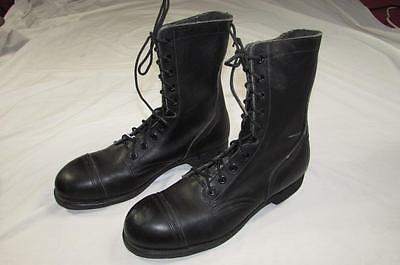 MINT Vtg 90s 1998 US Army Boots Combat 12 R Military Leather Black Steel Toe