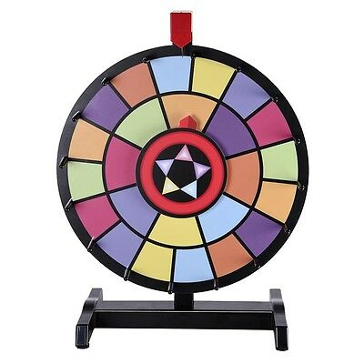 """WinSpin™ 15"""" Tabletop Color Prize Wheel 2 Circles 2 Pointers Spin Game Tradeshow"""