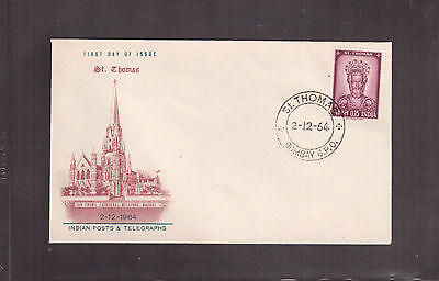 INDIA 1964 FIRST DAY COVER, ST. THOMAS Scott #394 !!