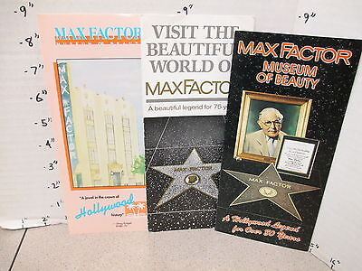 MAX FACTOR makeup museum brochure pamphlet (3) Jaclyn Smith Charlie's Angels 70s
