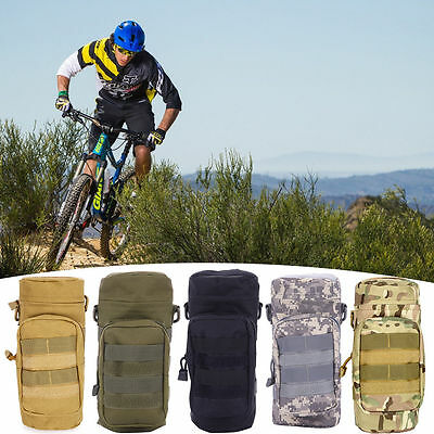 NEW Outdoor Tactical Military Water Bottle Bag Kettle Pouch Holder Carrier Cages
