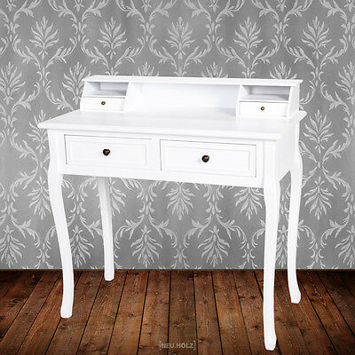 Secretary Desk Vanity cupboard Dressing table Dresser Make-up table white
