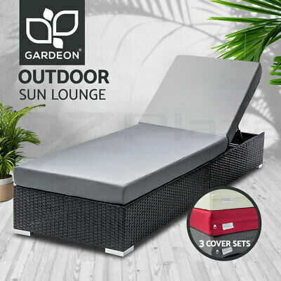 NEW Wicker Rattan Outdoor Sun Lounge Furniture Pool Bed Garden Furniture Sofa
