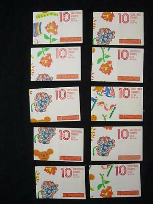 10x 1989 GREETINGS BOOKLETS Cat £360