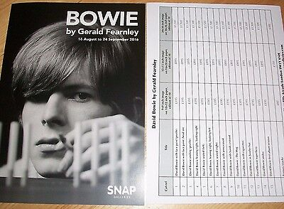 DAVID BOWIE by Gerald Fearnley photography gallery Leaflet Brochure +£ pricelist