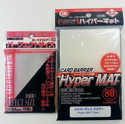 KMC Bundle - 100 Perfect Size Sleeves + 80 Hyper Mat Clear