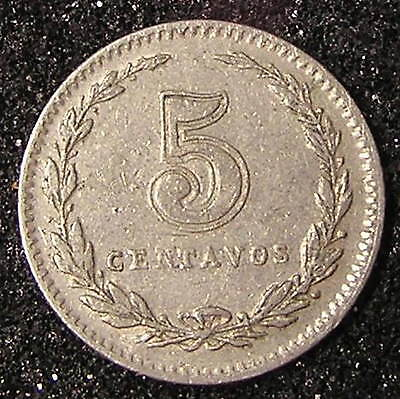 1-Coin from Argentina.  5-Centavos.  1936.