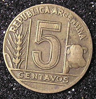 1-Coin from Argentina.  5-Centavos.  1950.