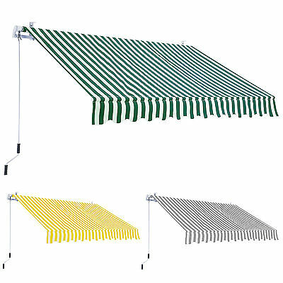 Alfresia Garden Patio Manual Retractable Awning Canopy 2.95m x 2.5m - Choice of