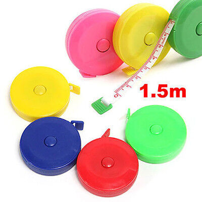 1 X Retractable Ruler Tape Measure Sewing Cloth Dieting Tailor 1.5m 150cm Eyeful