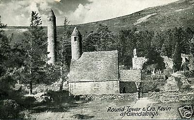 AK GLENDALOUGH The Round Tower And Cro. Kevin !!!HISTORIC!!!