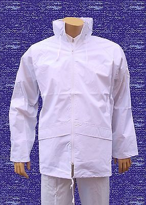 CATHEDRAL Duraproof Jacket Mens 100% Waterproof Unlined White Bowls Coat Sz XXL