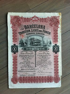 barcelona traction light and power company 1913