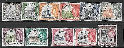 Basutoland Sg69/79 1961 Definitive Set Fine Used