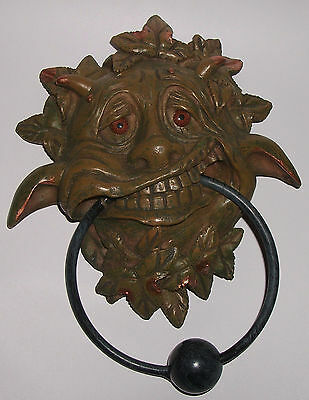 Nemesis Now MERRY GARGOYLE DOOR KNOCKER Tipsy Drunk Green Man Goblin