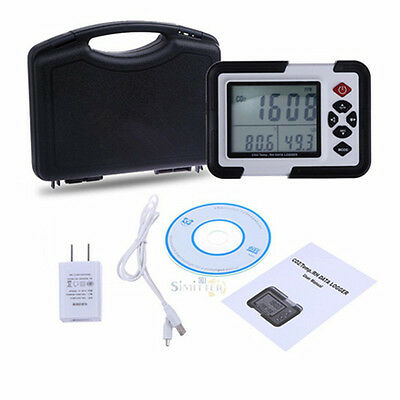 USB CO2 Carbon Dioxide Data Air Temperature Logger Humidity Meter Monitor LCD