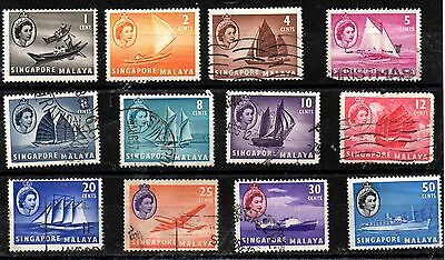 Stamps From Singapore Malaya 1955.