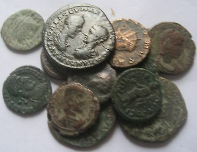 GREAT AUCTION START 1 $ INTERESTING LOT of 14 ROMAN COINS Imperial , Provincial