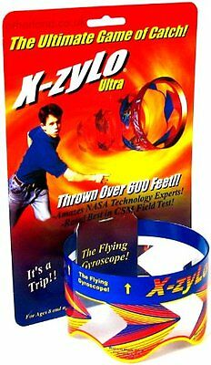 X-zylo Ultra Flying Gyroscope - Tkc William Mark Corp Red Ring Throw Catch Over