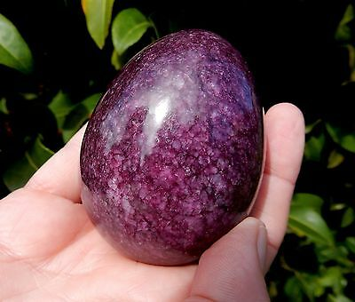 """Large 3"""" Purple Marble Collectors Egg + Free Display Stand (Avge 235g - 290g)"""