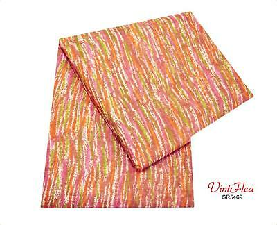 Vintage Indian Sari Craft Fabric 100% Cotton Dress Drape Multicolor Saree Veil