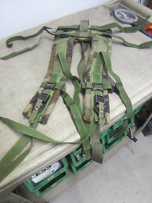 MOLLE II Frame SHOULDER STRAPS with QUICK RELEASE WOODLAND CAMO