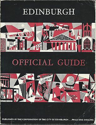EDINBURGH Official Guide 1961 history information illustrated local adverts