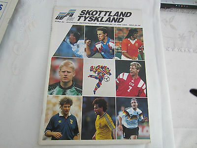 EURO 92 INTERNATIONAL SCOTLAND v WEST GERMANY