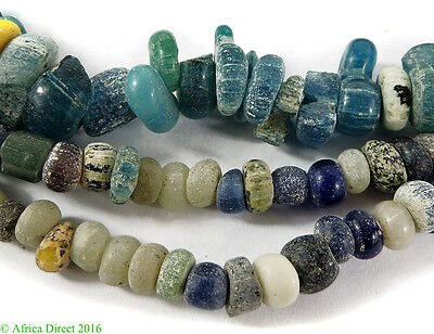 Trade Beads Blue Wound Mali Green Ancient African