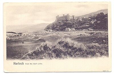 Harlech from the Golf Links,publisher Pictorial Stationary Co     (G)