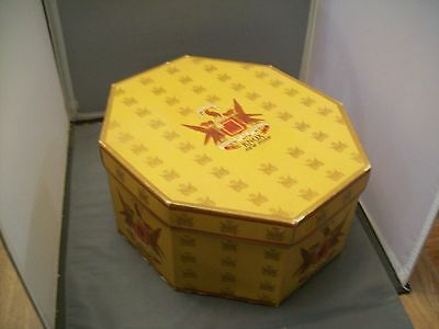 Vintage KNOX Brand New York Octagon Cardboard Hat Box With Lid