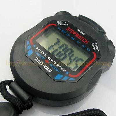 """1.5"""" LCD  Display Day/Date Sports Stopwatch with Strap"""