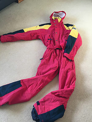 Retro Adult Unisex Ski Suit Ladies Size 12-14  & Mens Size S Good Condition