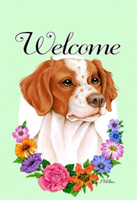 Large Indoor/Outdoor Welcome Flag (Flowers) - Brittany 63071
