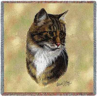 Lap Square Blanket - Brown Tabby Cat by Robert May 1949