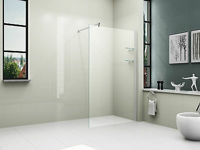 8mm Safety Glass Panel Bathroom Walk in Shower Wet Room 1200x1900mm