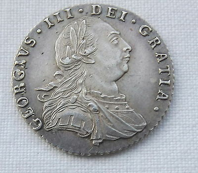 Silver Coin - George Iii 1787 Sixpence
