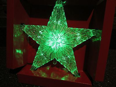 Home Elements Star Faceted Clear Lighted Color Changing Tree Topper