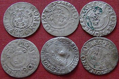Rare Lot Of 6 Silver Late Medieval Hammered Coins - Superb Coins