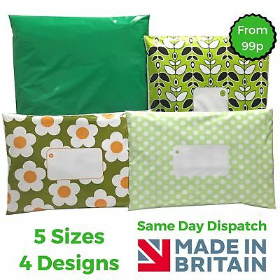 GREEN Post Plastic Mailing Bags Packaging Postage Coloured - Polka Dot - Daisy