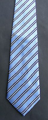 Vintage 90s Savoy Tailors Guild Silk Tie: College Bands on Blue