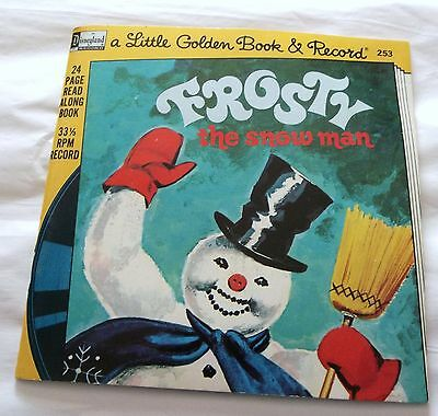 """frosty The Snowman"" Little Golden Book 24 Page Book+Record, 33-1/3 Record"