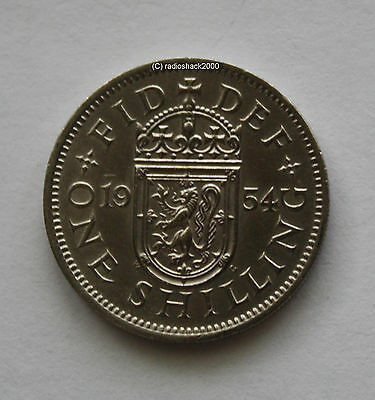 1954 Elizabeth II One Shilling coin Good Condition